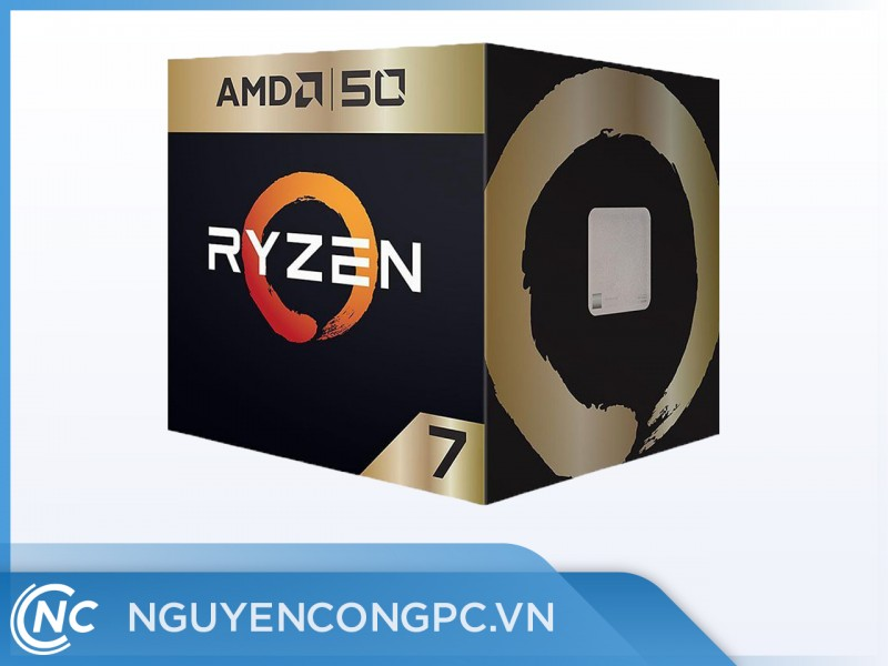 CPU RYZEN 7 2700X Gold Limited (AMD 50 NĂM)