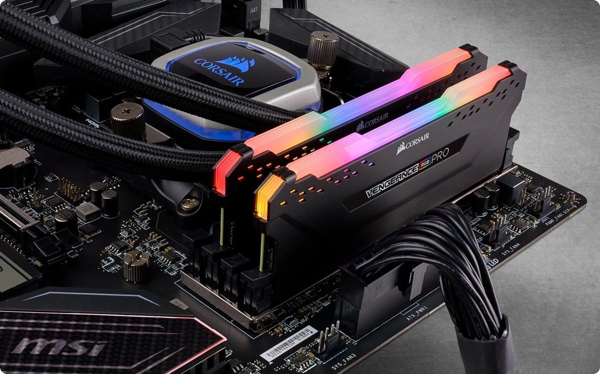 Ram Corsair Vengeance Pro RGB 16GB (2x8GB) bus 3200Mhz Cas16 DDR4