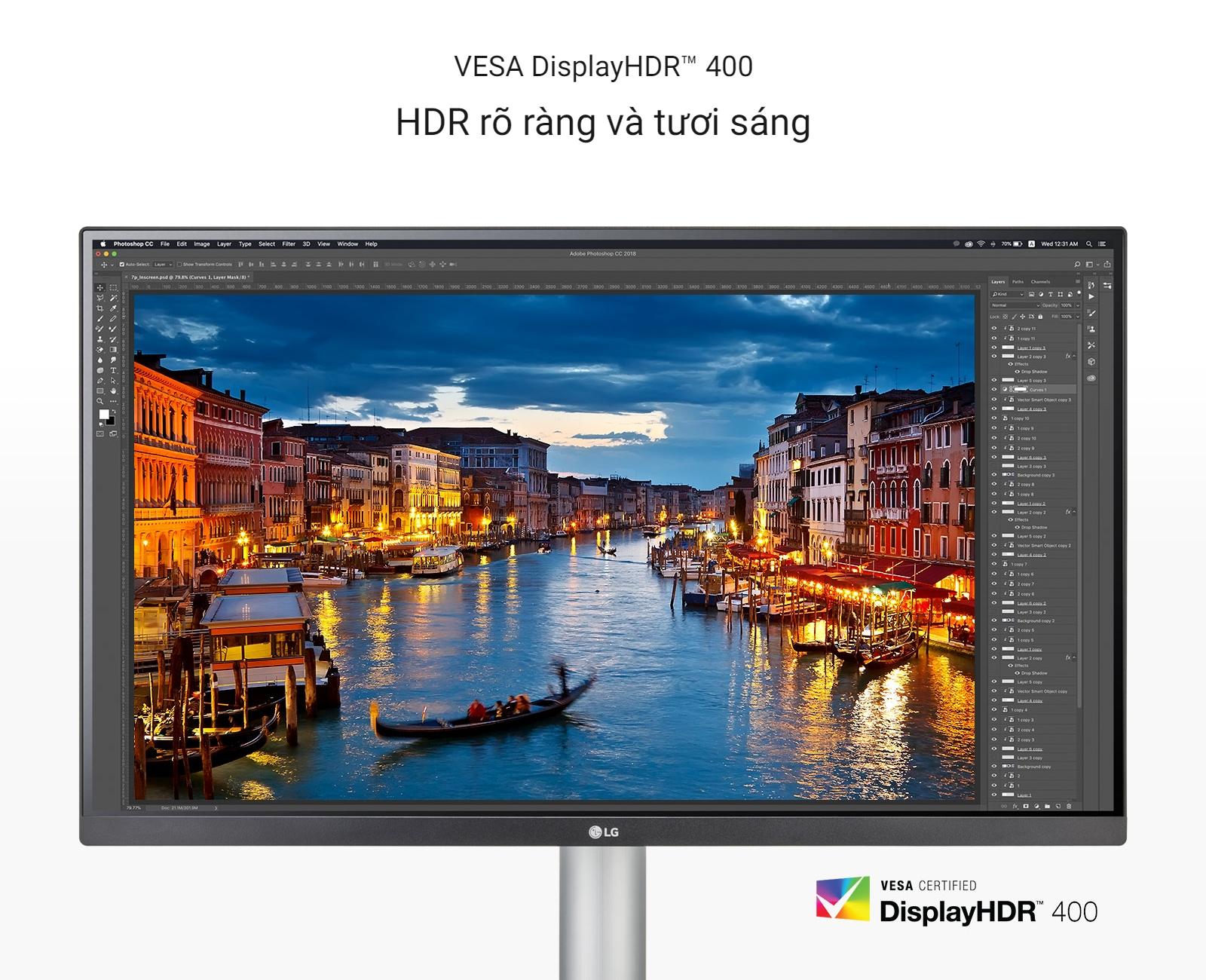 VESA DisplayHDR™ 400 rõ ràng và tươi sáng