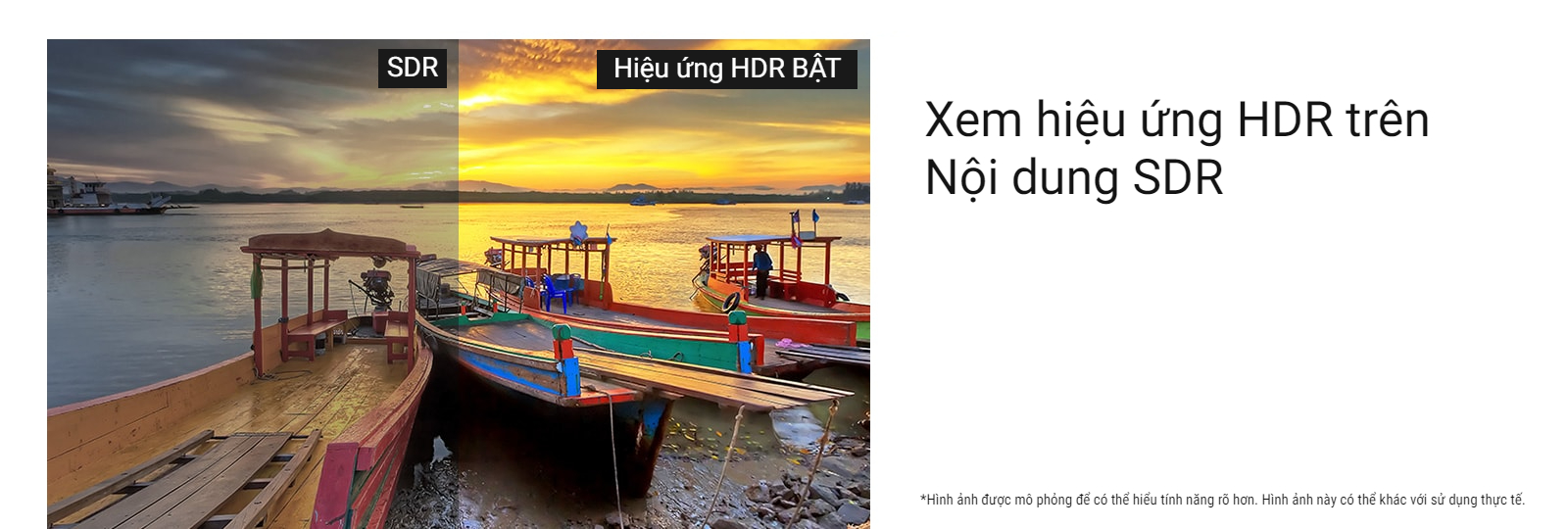 Xem hiệu ứng HDR trên nội dung SDR