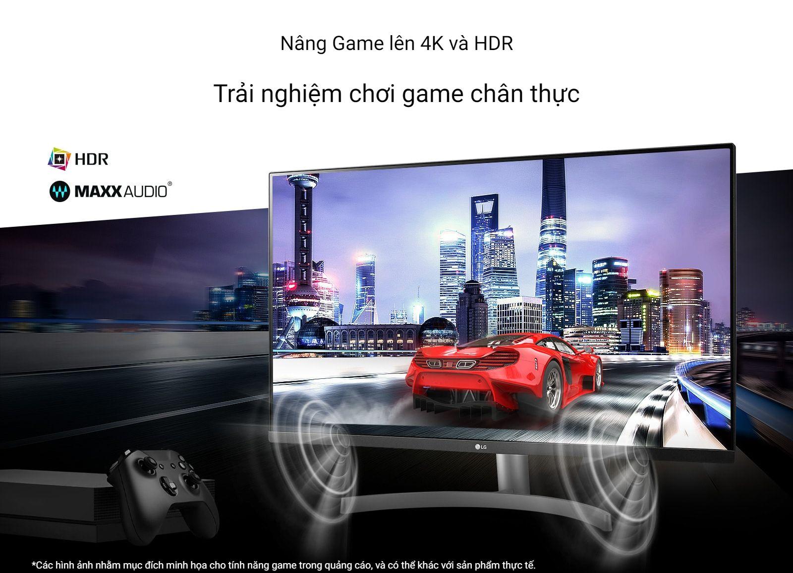 Màn hình LG 32UN500-B thúc đẩy kỷ nguyên mới của trải nghiệm chơi game 4K HDR