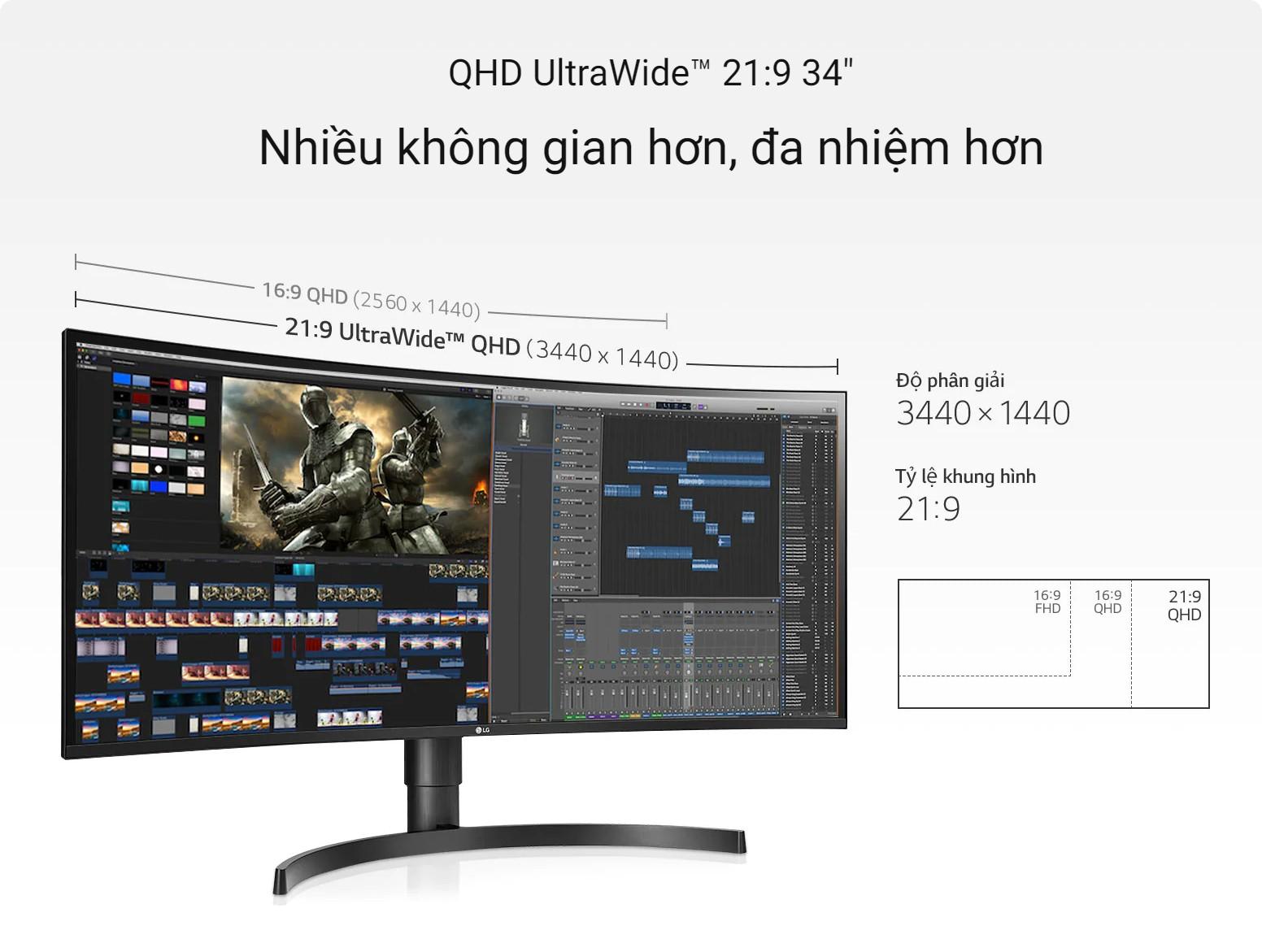 34WN80C-B QHD UltraWide 21:9 34inch