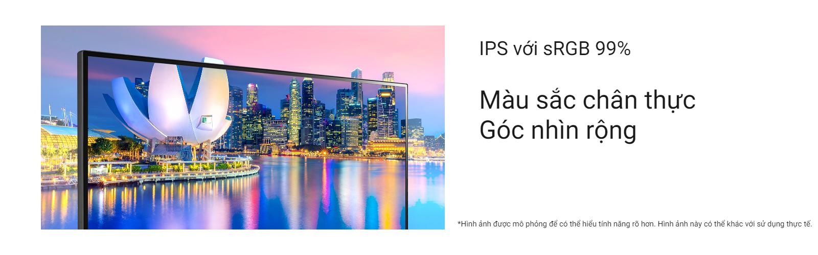 IPS với sRGB 99% (điển hình)