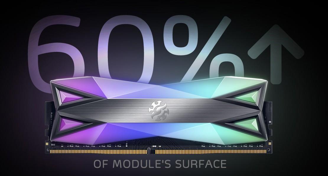 D60G được trang bị thêm ánh sáng RGB