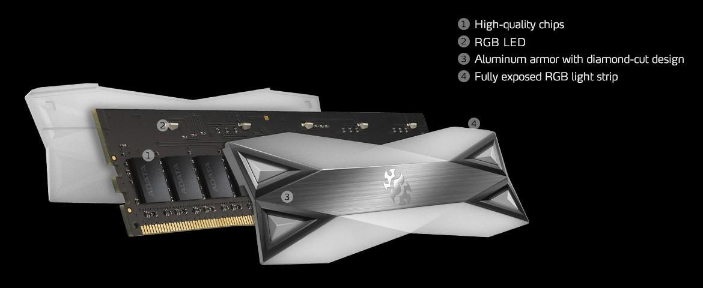 D60G RGB 8GB được chế tạo với chip chất lượng cao