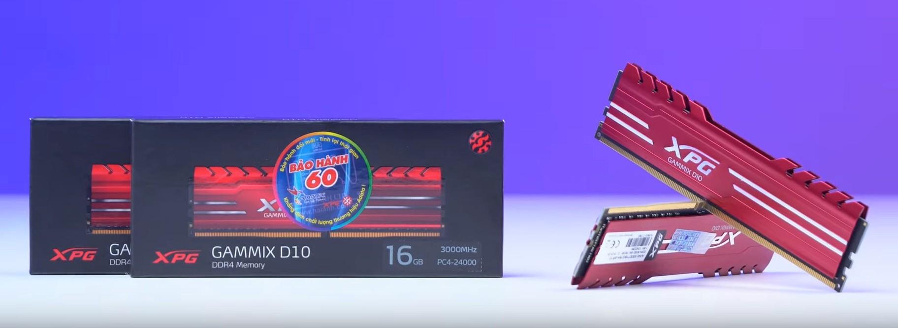 ADATA XPG GAMMIX D10 DDR4 16GB (1x16GB) bus 3000MHz