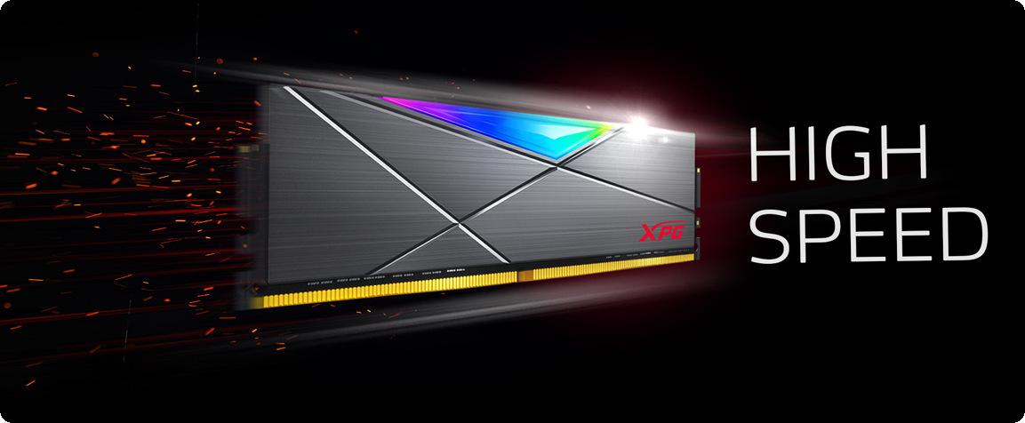 ADATA XPG Spectrix D50 TUNGSTEN GREY RGB tốc độ tuyệt vời