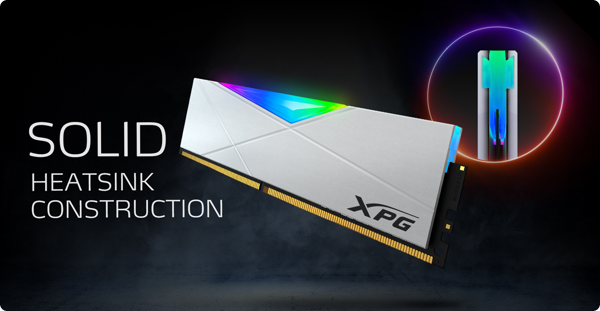 ADATA XPG Spectrix D50 TUNGSTEN GREY RGB tản nhiệt bằng kim loại