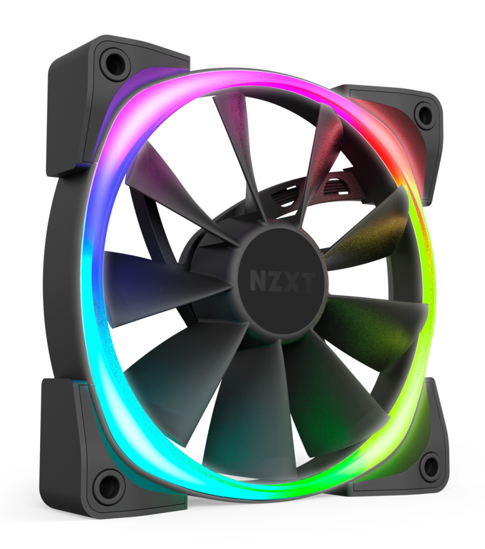AIO NZXT Kraken X53 RGB được trang bị 02 quạt tản nhiệt AER RGB 2 120mm