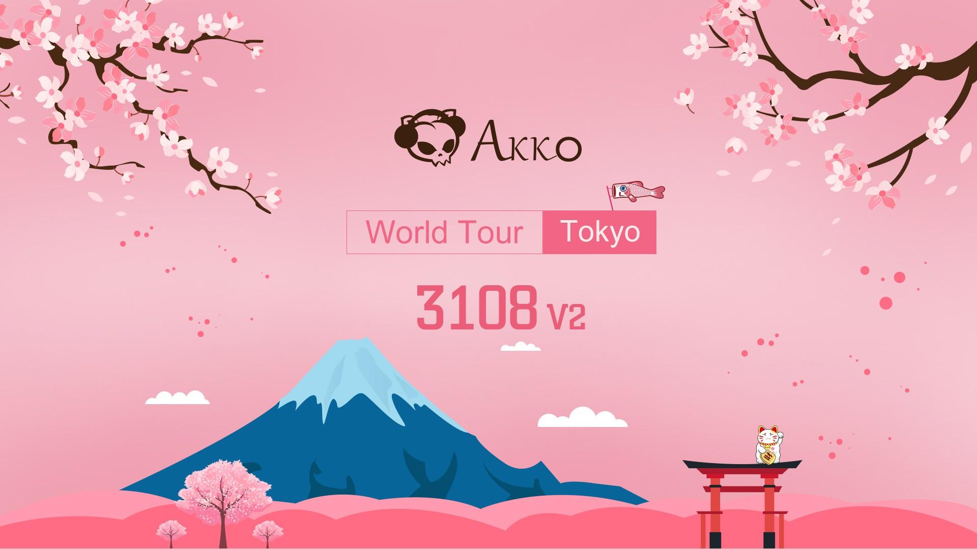 Bàn phím cơ Akko 3108 v2 World Tour - Tokyo - Cherry Switch