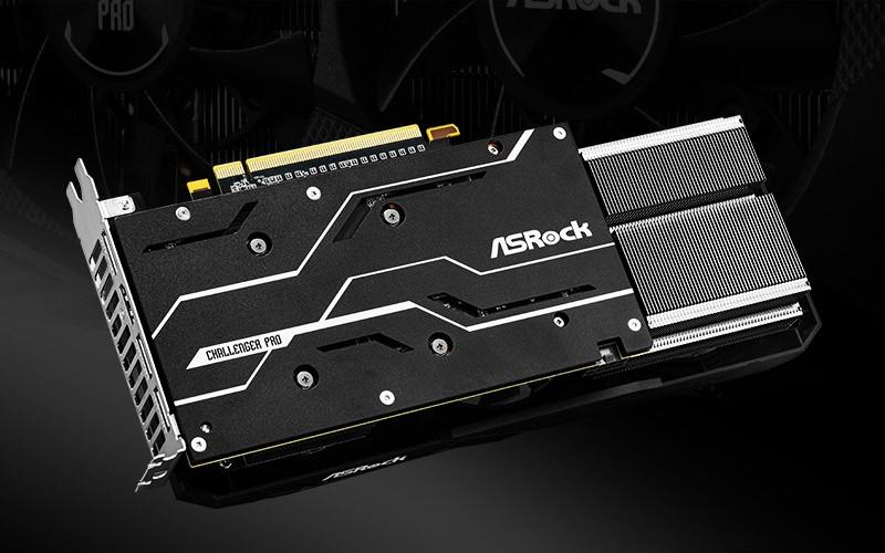 tấm ốp kim loại thời trang trên card đồ họa Radeon RX 5600 XT Challenger Pro 6G OC
