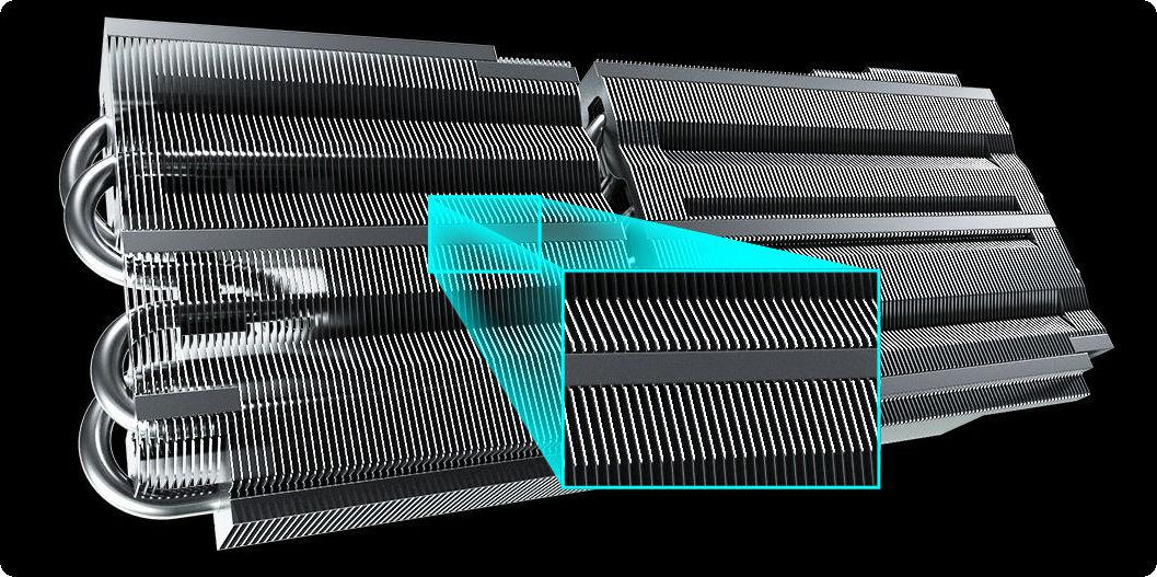 ASRock Radeon RX 6800 Challenger Pro 16G OC Cánh tản nhiệt mật độ cao