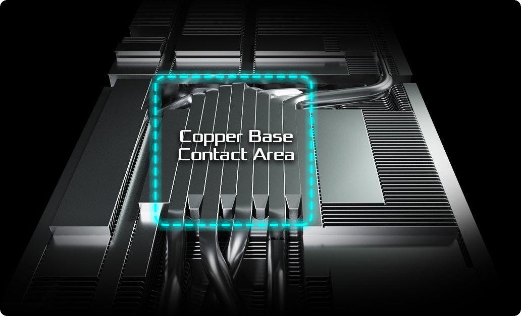 ASRock RX 6800 XT Phantom Gaming D 16G OC có các ống dẫn nhiệt được hợp nhất