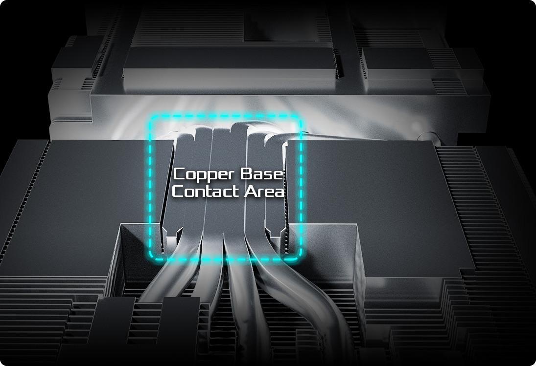 ASRock RX 6800 Challenger Pro 16G OC có các ống dẫn nhiệt được hợp nhất