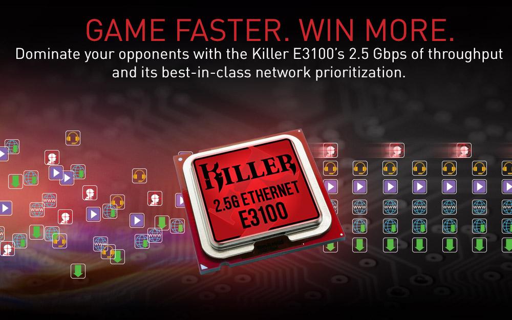 ASRock X570 Taichi Razer Edition Killer Networking