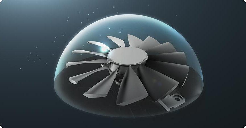 quạt độ bền chống bụi IP5X