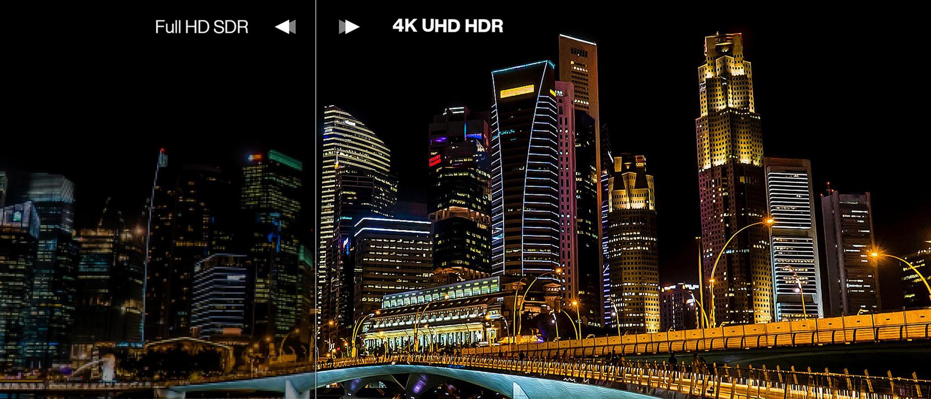 Hình ảnh chi tiết hoàn hảo ở 4K HDR
