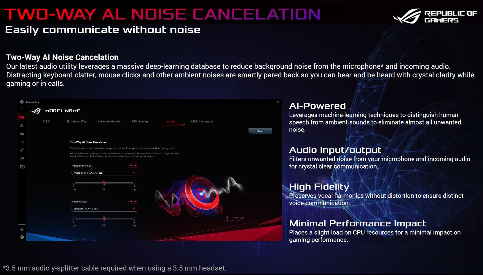 Chống ồn hai chiều bằng AI