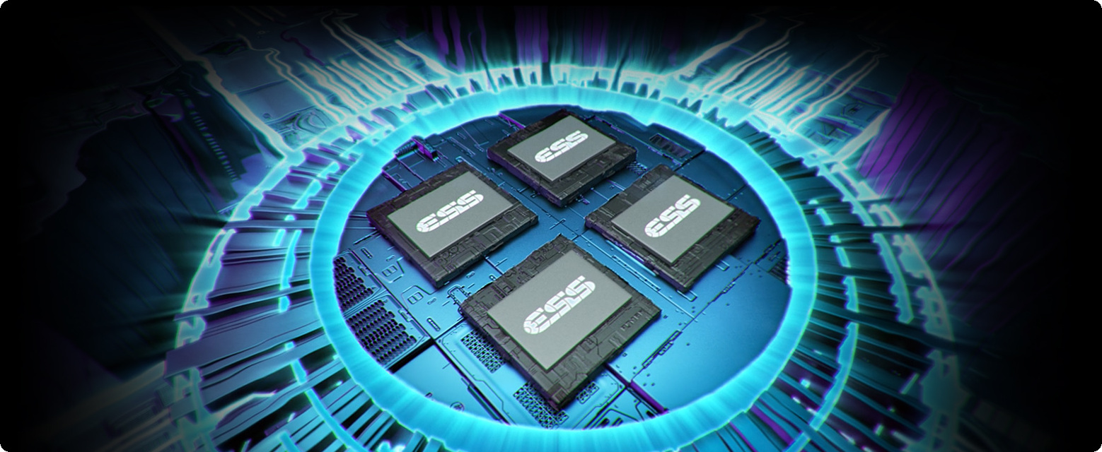 Hi-Resolution ESS ES9218 SABRE Quad-DAC