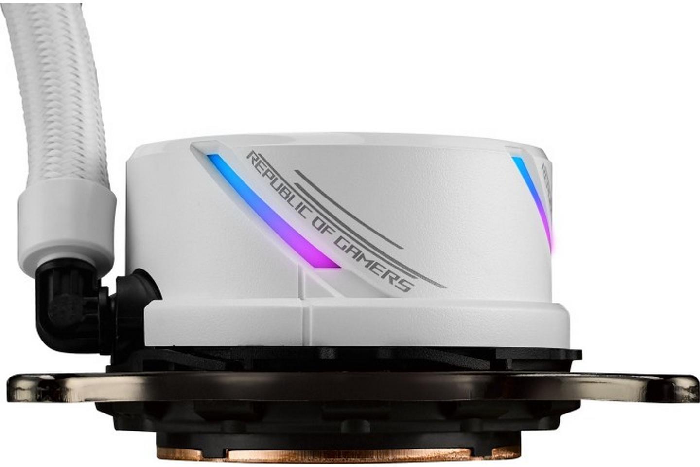 Thiết kế bơm cải tiến cua ROG STRIX LC 360 RGB White Edition