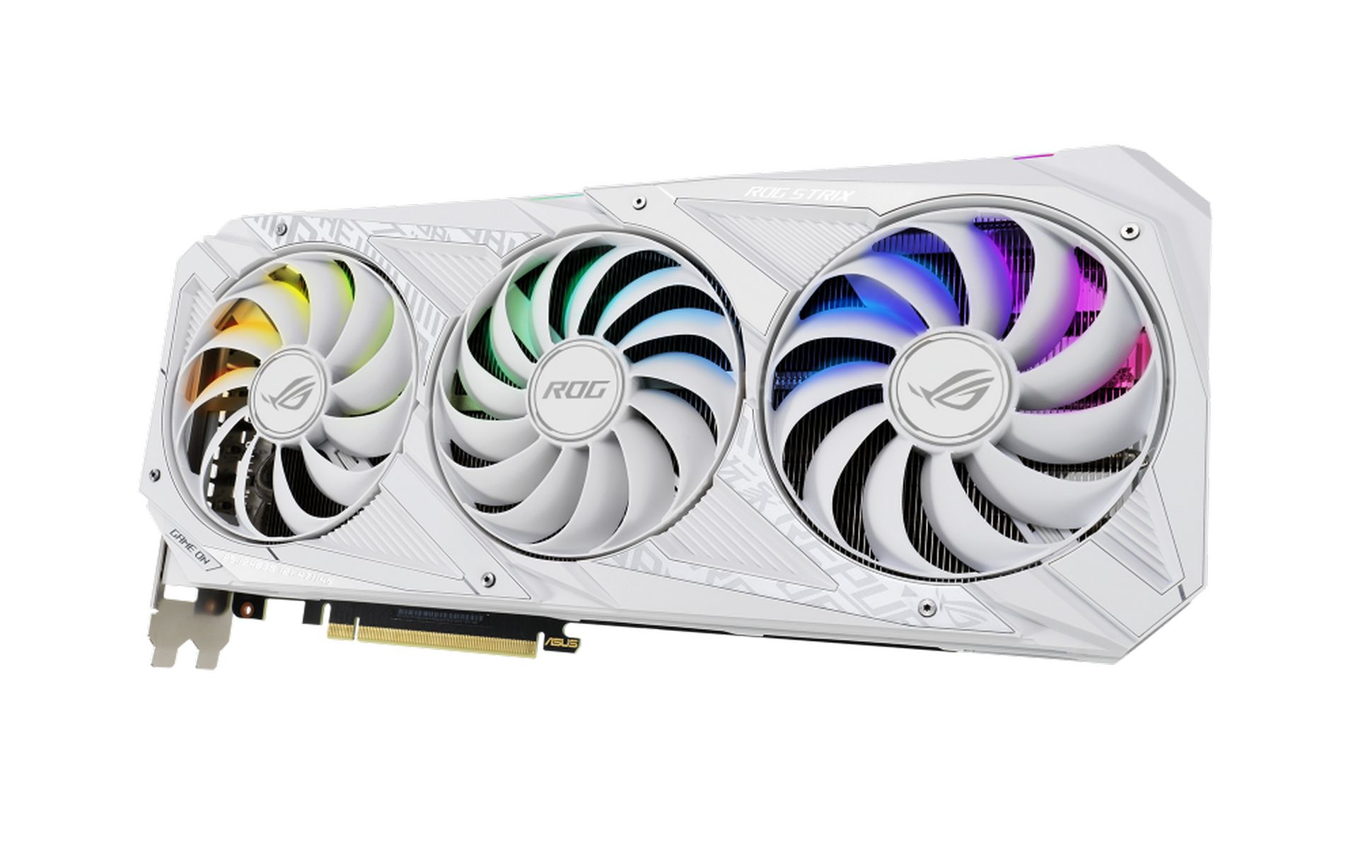 Card Đồ Họa ASUS ROG STRIX RTX 3070 O8G WHITE EDITION GAMING