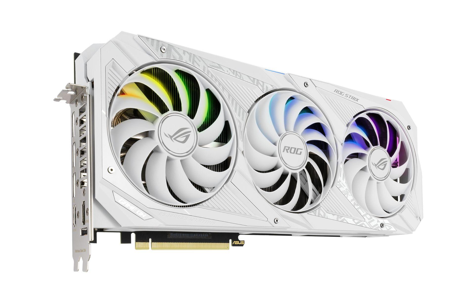 Card Màn Hình ASUS ROG Strix GeForce RTX 3080 White OC Edition 10GB GDDR6X