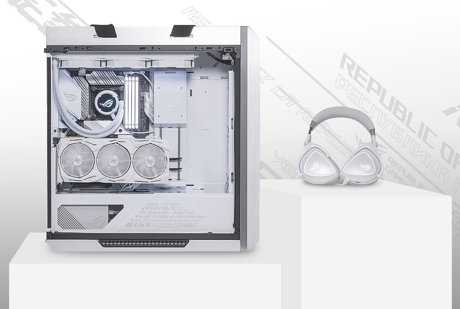 ROG Strix Helios GX601 White Edition showcase