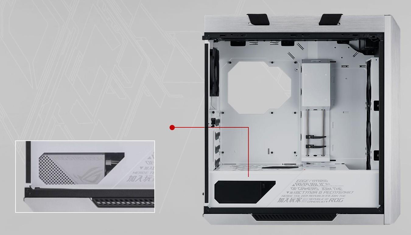thiết kế hai mảnh của tấm bọc PSU