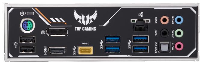 USB Type-C ở bảng điều khiển phía sau