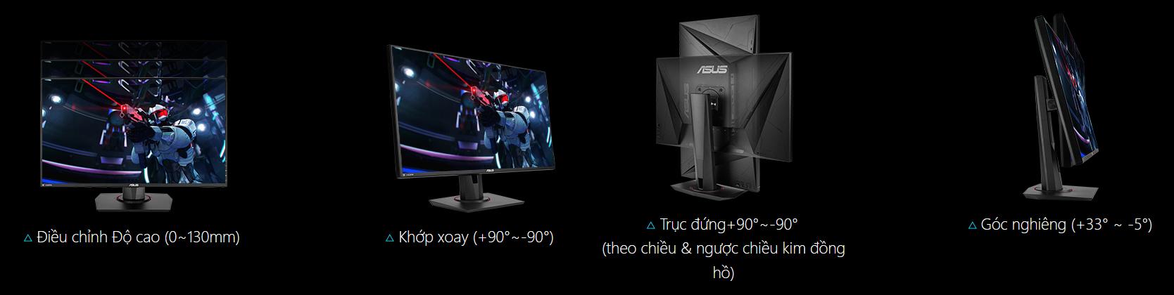 ASUS TUF Gaming VG279Q được thiết kế chuyên dụng cho các phiên chơi game