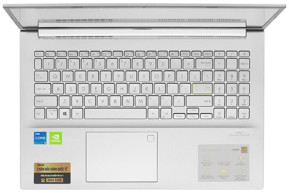 Bàn phím kích cỡ đầy đủ trên Vivobook A515EP-BQ195T