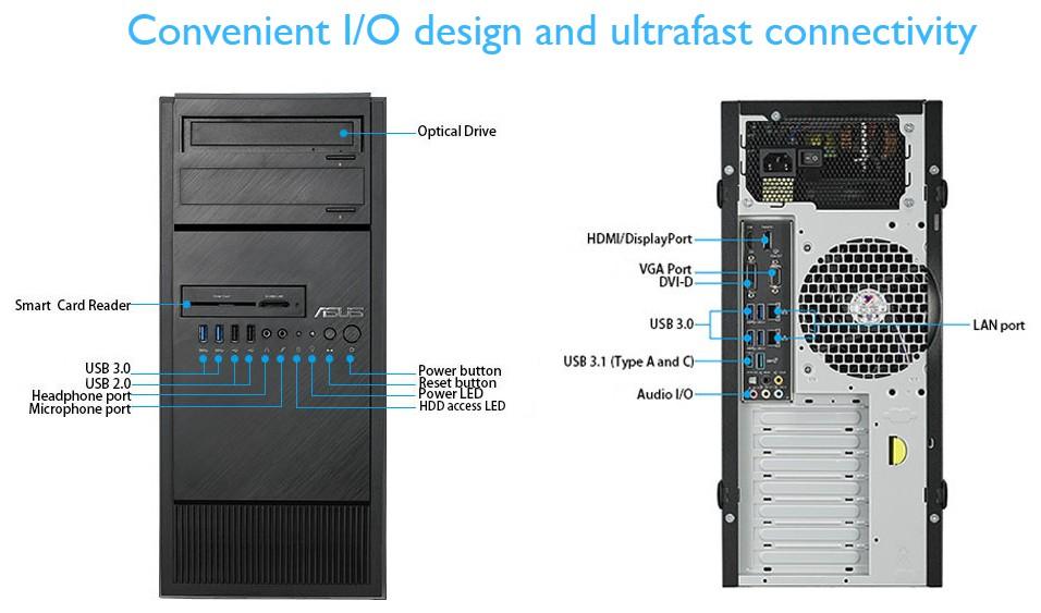 Máy tính đồng bộ ASUS WORKSTATION E500 G5-9500013Z