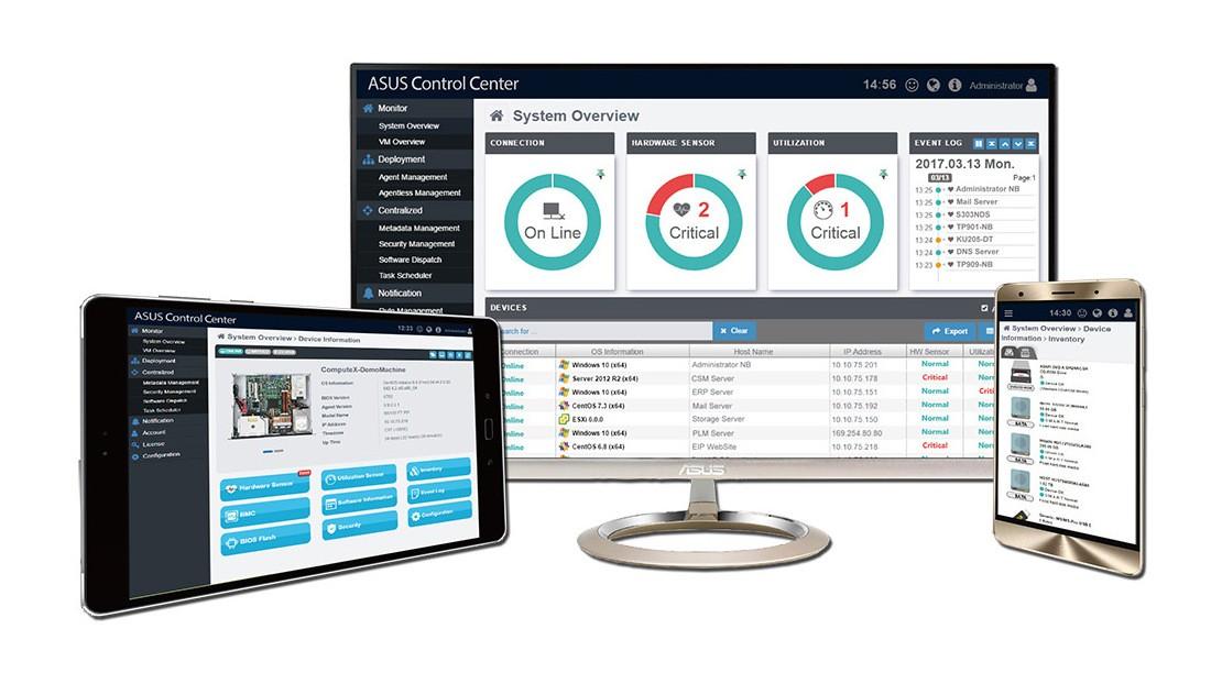 Cải thiện năng suất với ASUS Control Center