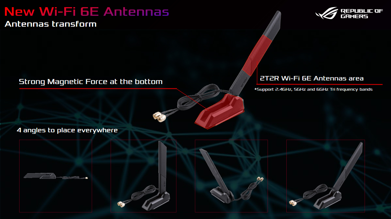 ROG Maximus XIII Extreme được trang bị Intel Wi-Fi 6E AX210