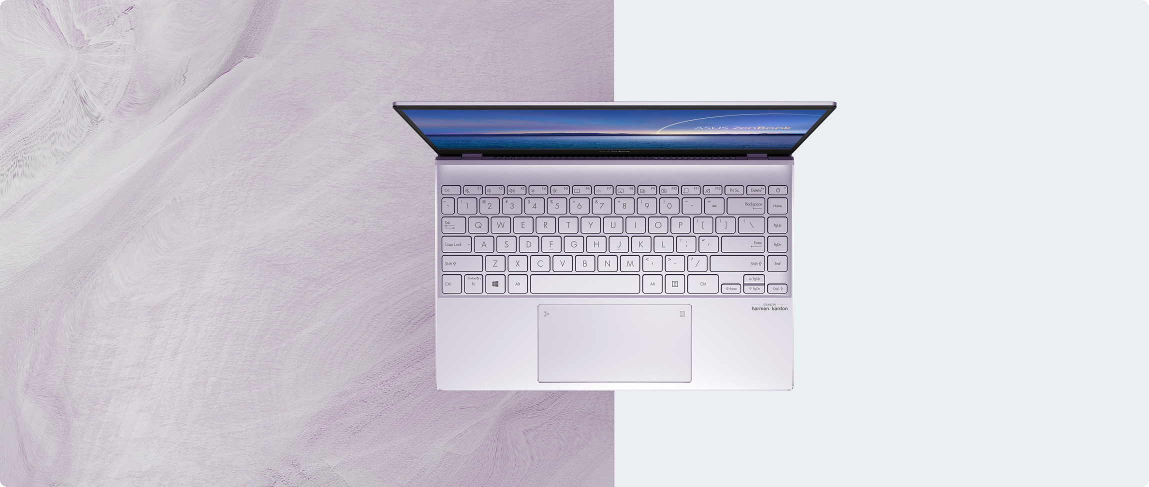 Laptop ASUS ZenBook 13 UX325EA-EG081T có thiết kế bàn phím công thái học