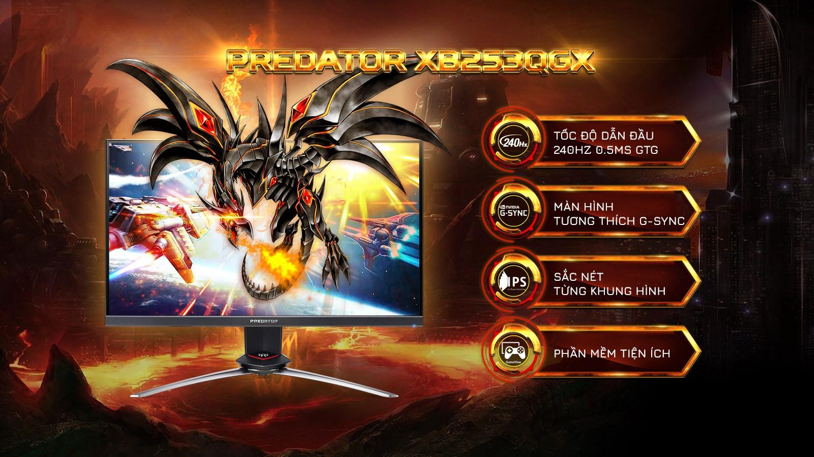 Màn hình Acer Predator XB253QGX