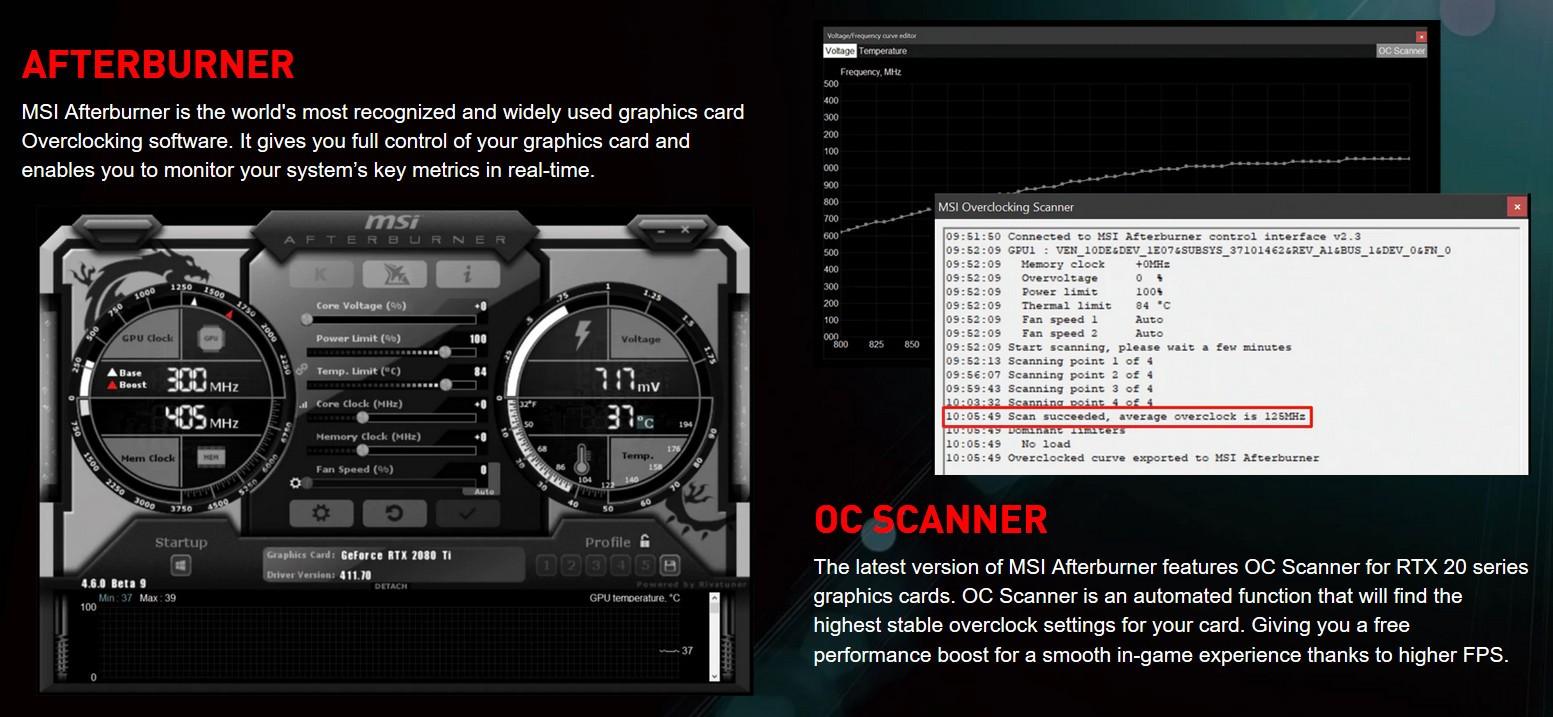 MSI Afterburner có tính năng OC Scanner