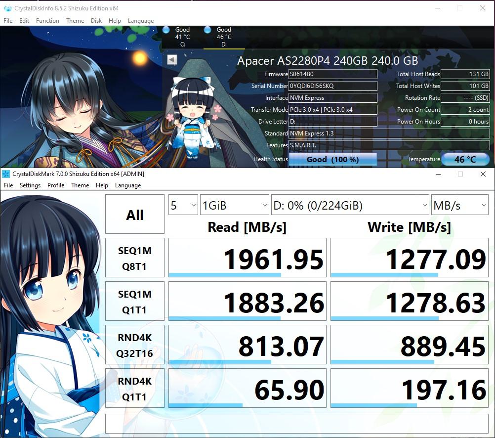 Tốc độ cực nhanh với PCIe Gen 3 x4