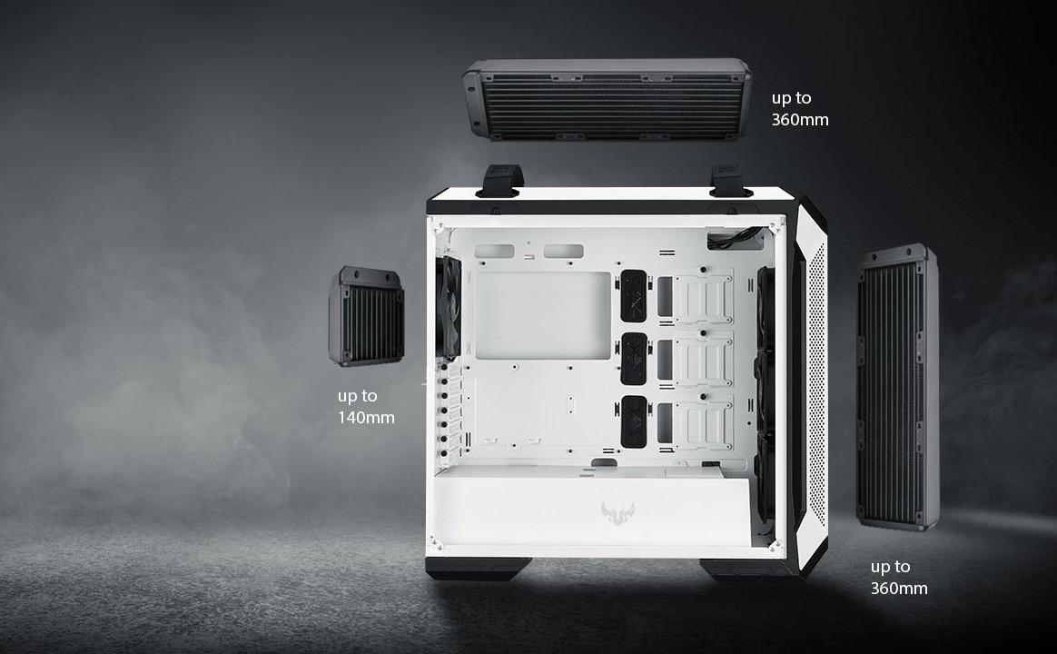 Vỏ máy GT501 White hỗ trợ tản nước