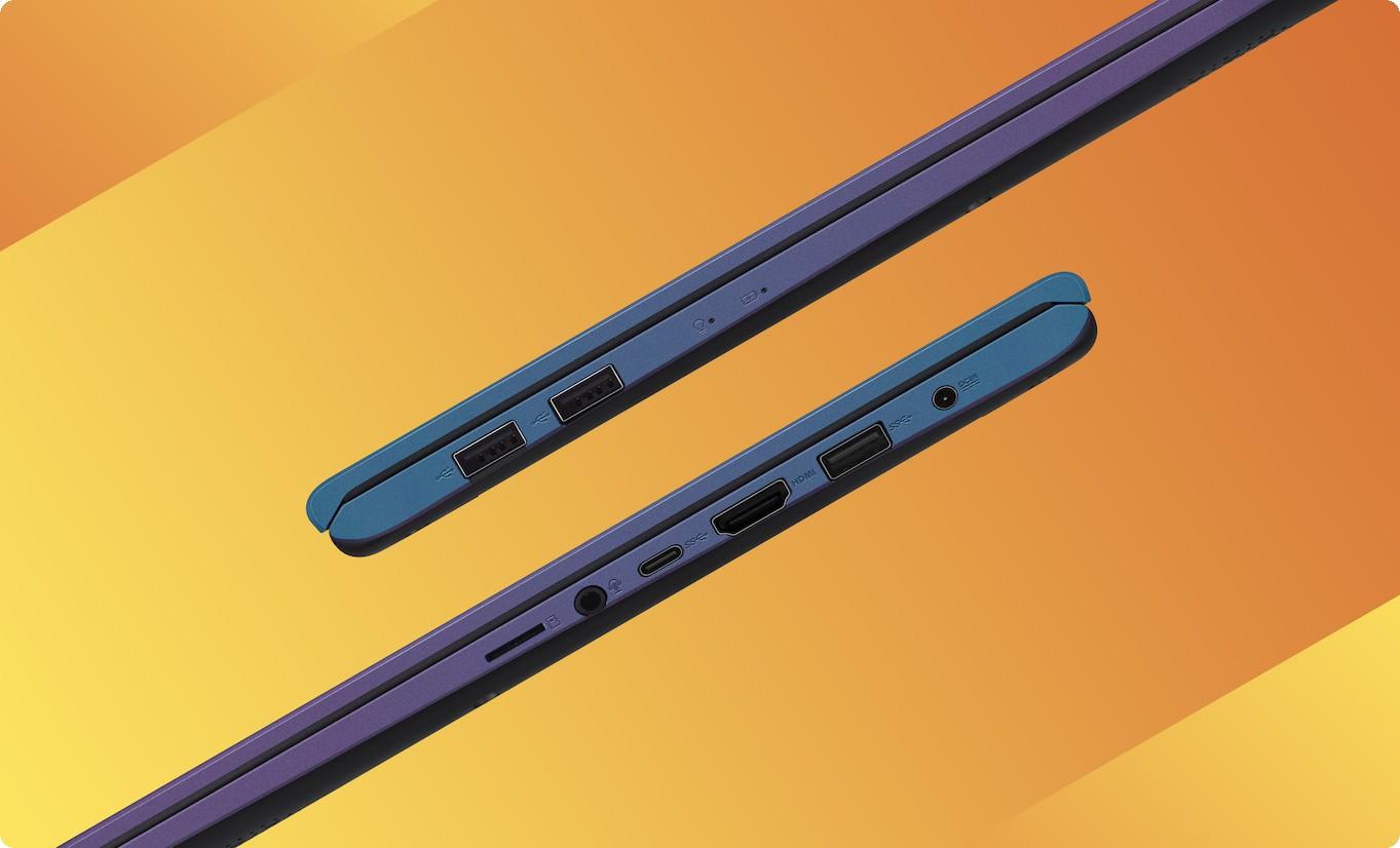 Asus A512DA-EJ421T được trang bị cổng USB Type-C