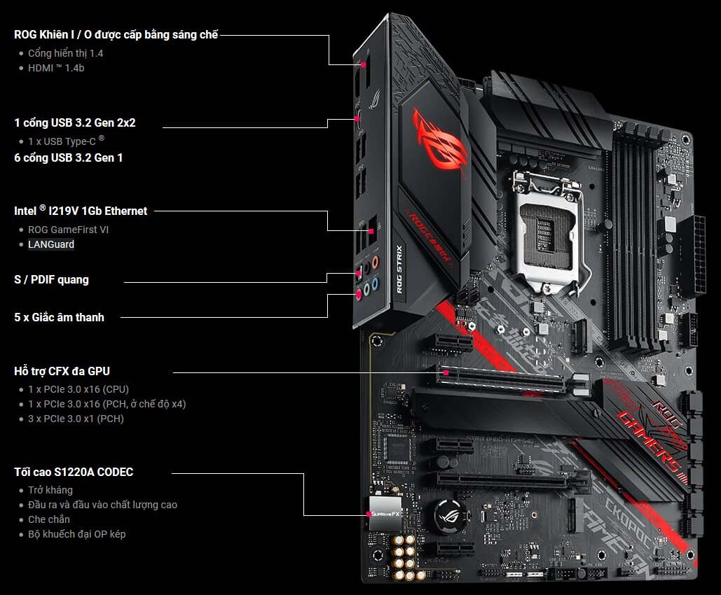 Mainboard ASUS ROG STRIX B460-H GAMING