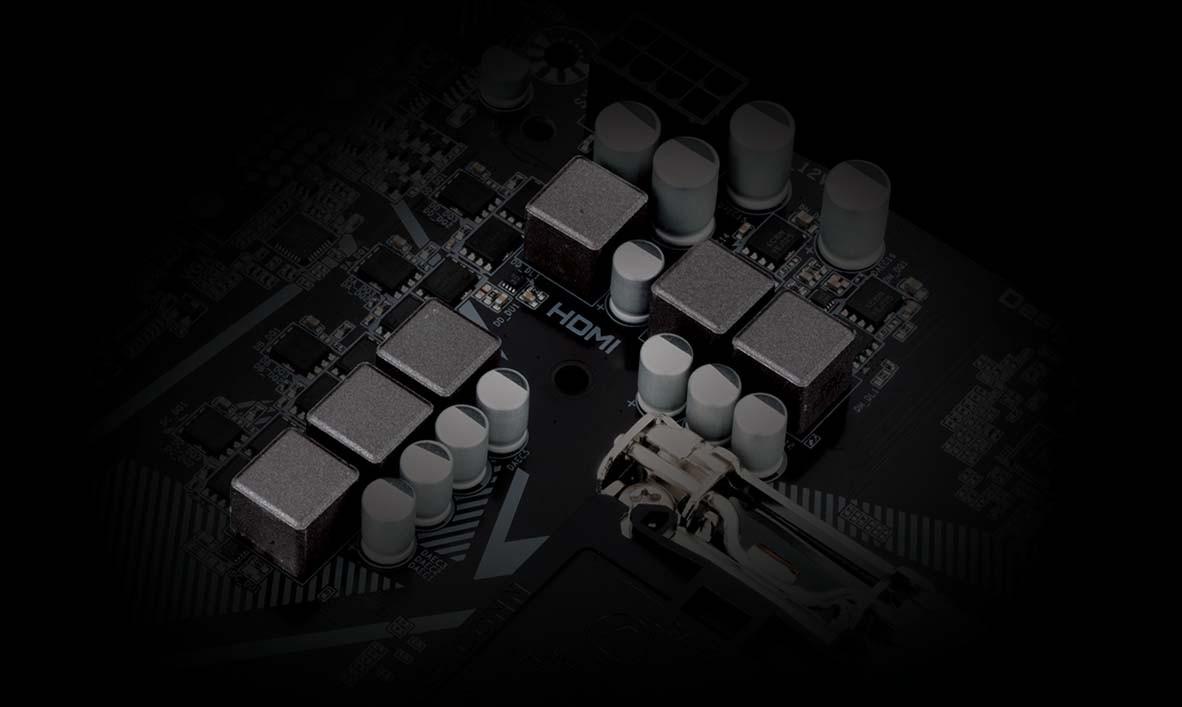 VRM kỹ thuật số 4 + 2 với Low RDS (on) MOSFET