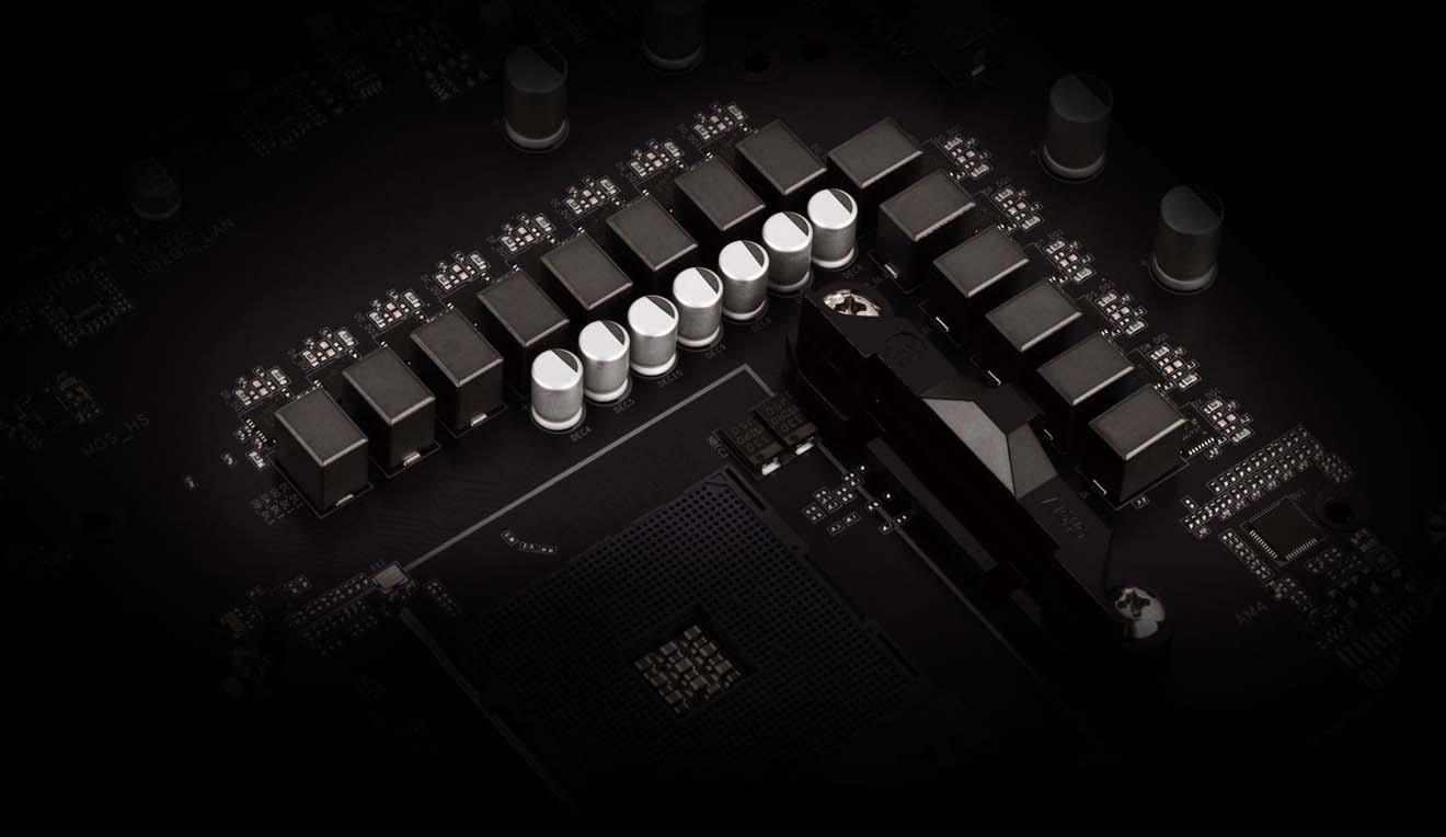 B550 AORUS PRO Thiết kế năng lượng kỹ thuật số 12 + 2 pha