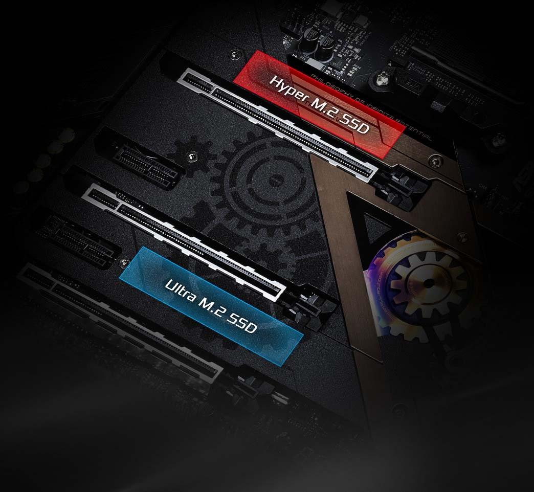 Giáp tản nhiệt vô địch và Ổ cắm kép cho M.2 SSD