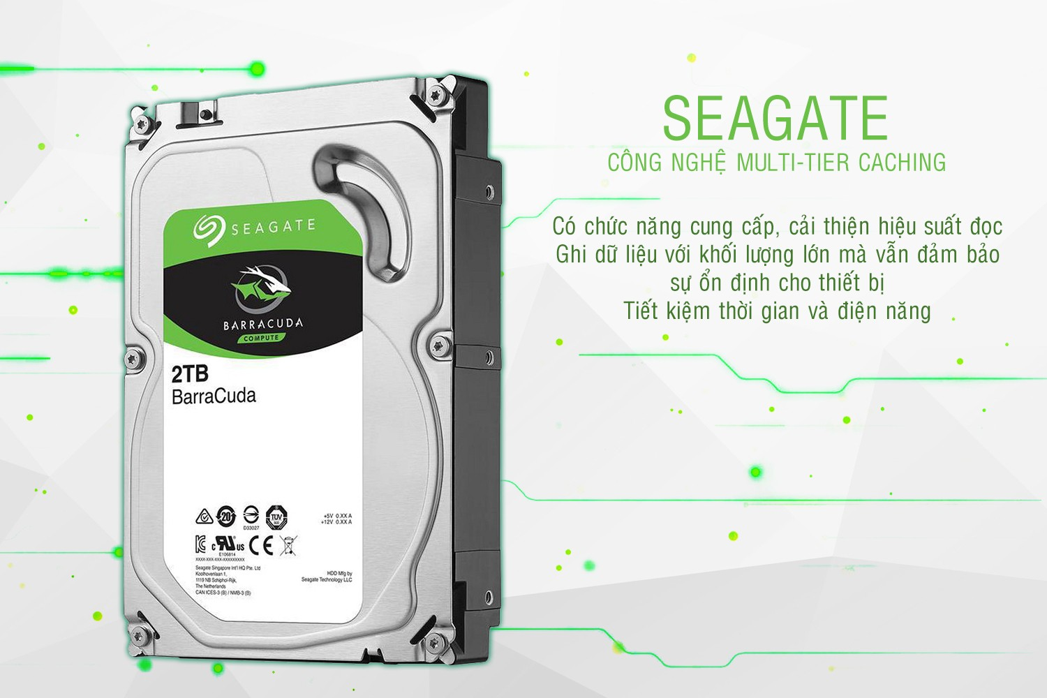 Ổ cứng HDD Seagate BarraCuda 2TB 7200rpm 256MB (ST2000DM008)