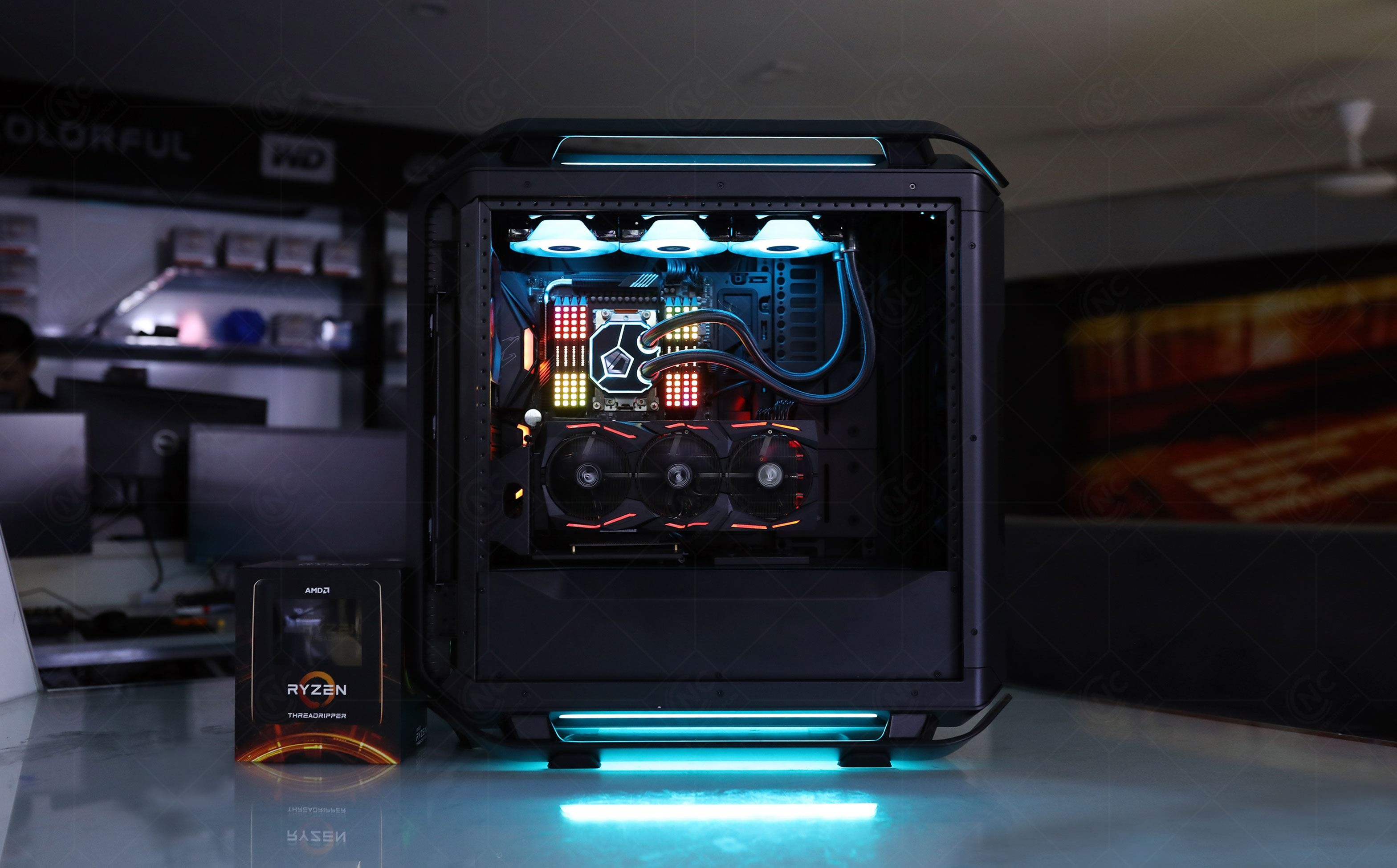 Bộ PC AMD Ryzen Threadripper 3990X | TRX40 | 128GB | RTX 2080 Ti | NVMe 1TB