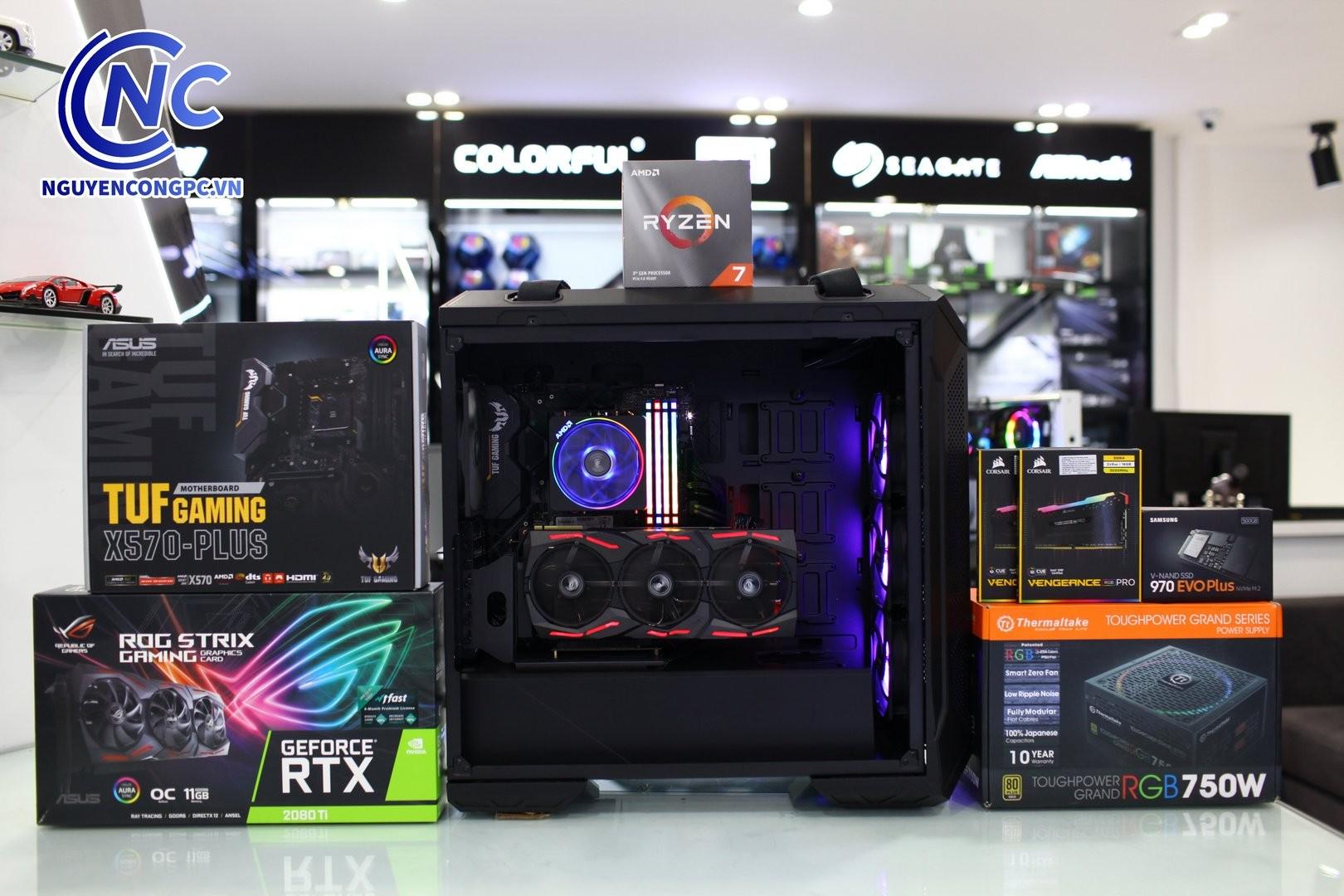 BỘ PC AMD RYZEN 7 3700X / RAM 32GB / RTX 2080 TI 11G