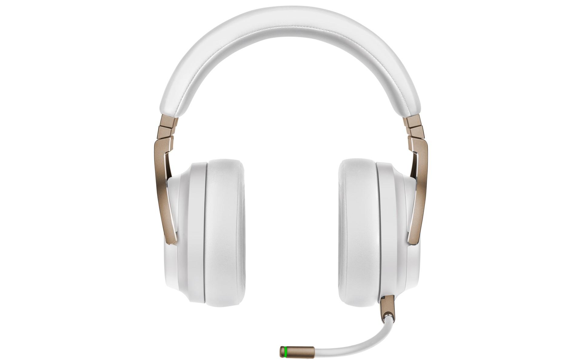 CORSAIR VIRTUOSO RGB Wireless Pearl được trang bị miếng đệm tai bằng mút hoạt tính