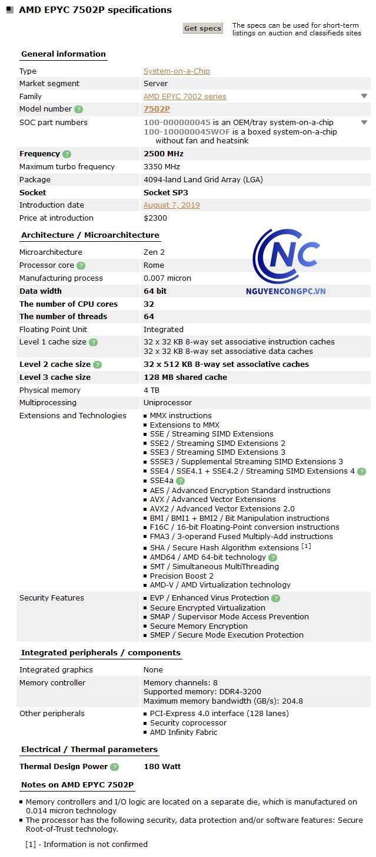 CPU AMD EPYC 7502P