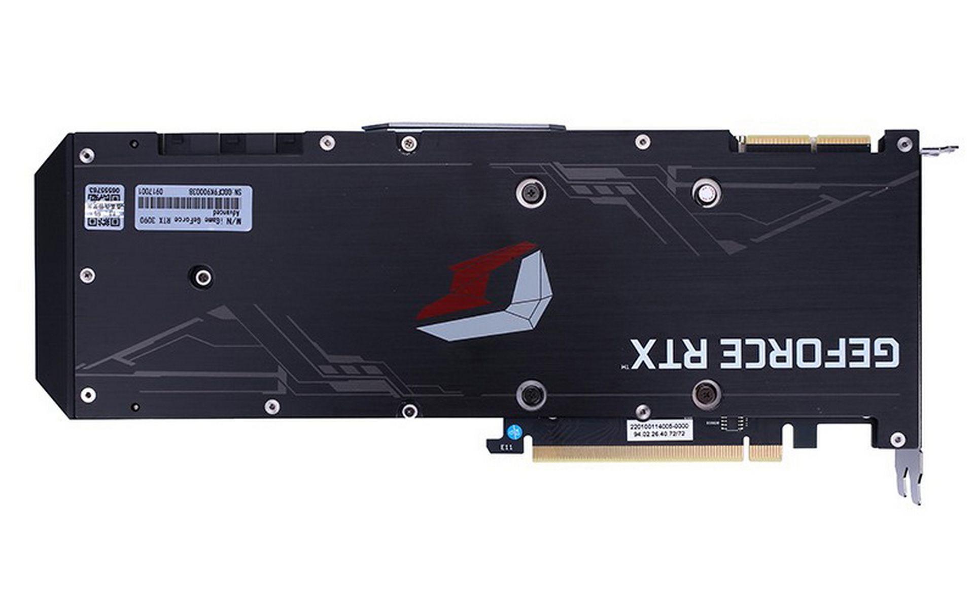 VGA ColorFul iGame RTX 3090 Advanced OC-V được trang bị tấm ốp lưng